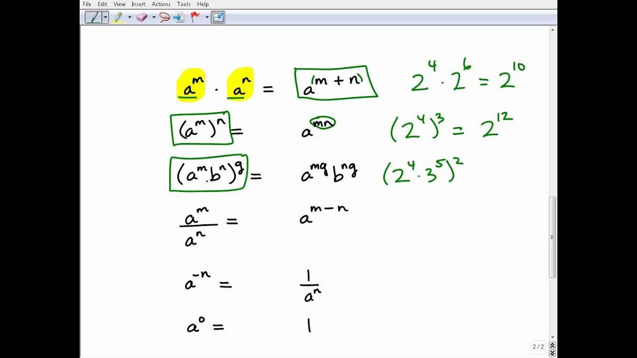 worksheet Exponent Practice homeschool math practice properties of exponents quiz youtube quiz