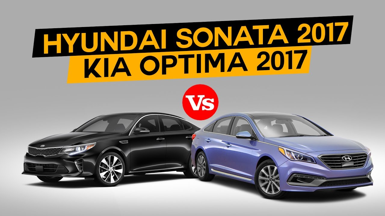 hyundai sonata 2017 vs kia optima 2017 youtube. Black Bedroom Furniture Sets. Home Design Ideas