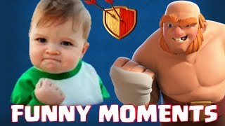 CoC funny moments | Most funny, glitches, fails, wins, trolls | Clash of Clans montage