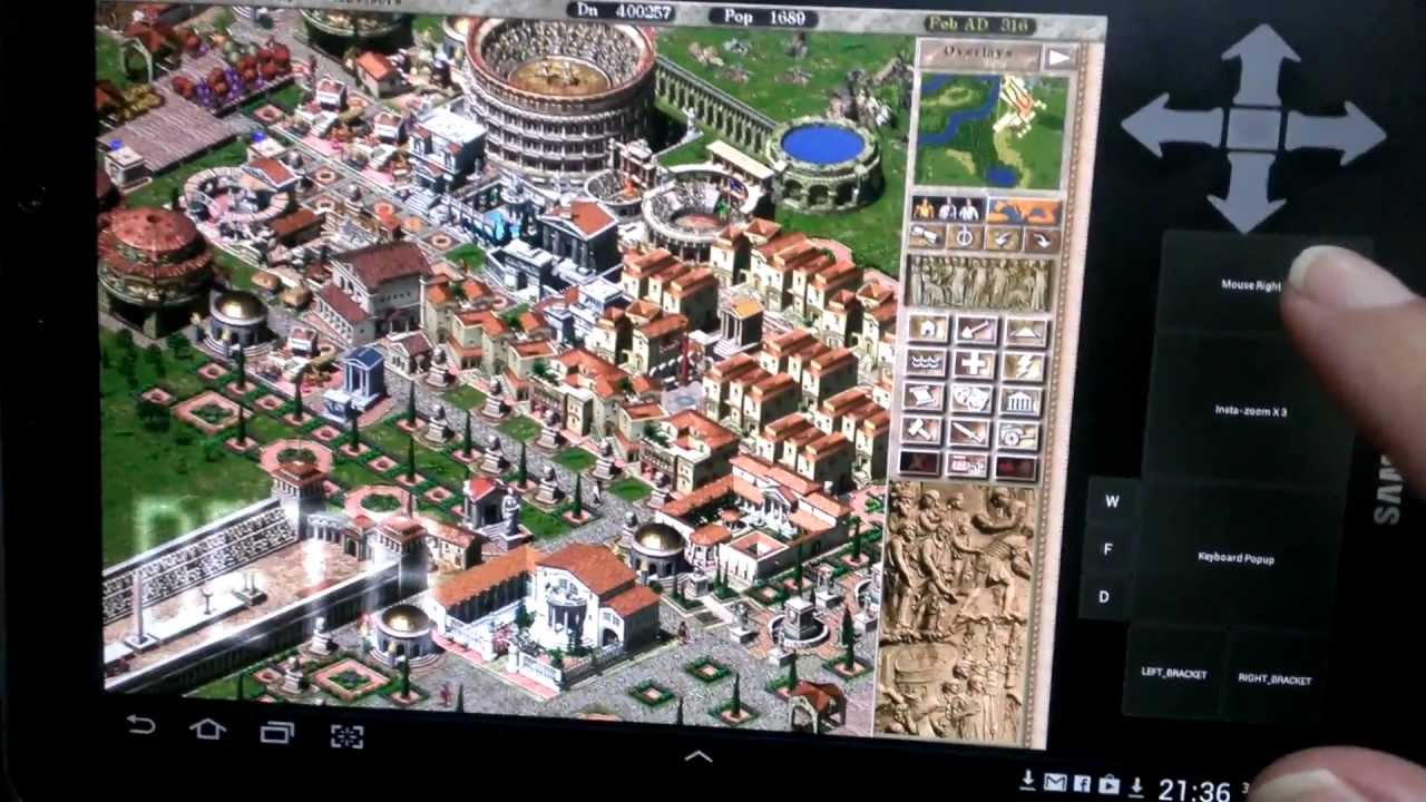 Playing Caesar 3 using winulator on an android tablet