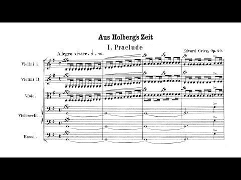 Grieg - Holberg Suite (Complete Score)
