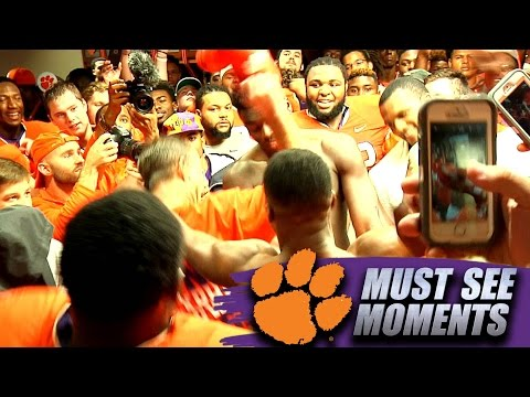 Dabo Swinney Dances With Clemson Players In Locker Room Following FSU Win