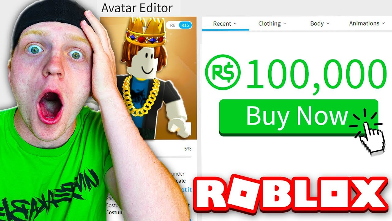 SPENDING 100,000 ROBUX ON MY AVATAR! (RARE ITEMS!) - YouTube