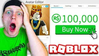 SPENDING 100,000 ROBUX ON MY AVATAR! (RARE ITEMS!)