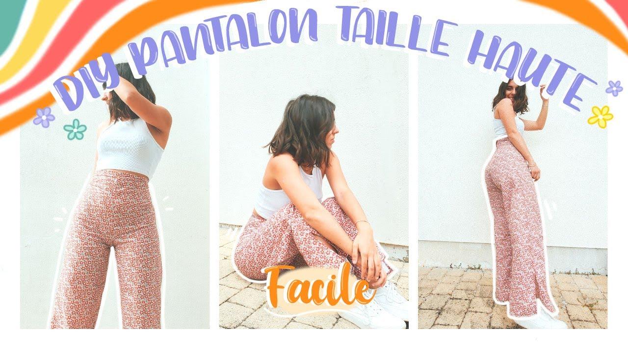 Download DIY PANTALON TAILLE HAUTE style vintage (sans patron & facile)