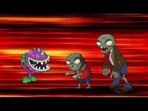 Plants Vs Zombies Adventures: Chomper greedily fights zombies   Jan Cartoon