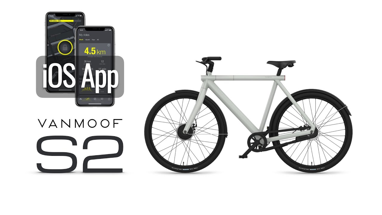 Vanmoof iOS App for Electrified S2/X2 : Tesla of bicycles!