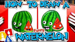 How To Draw A Funny Cartoon Watermelon