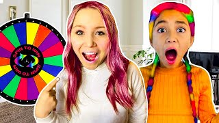 SPiN the MYSTERY WHEEL and DYE your HaiR whatever COLOR it lands on!!