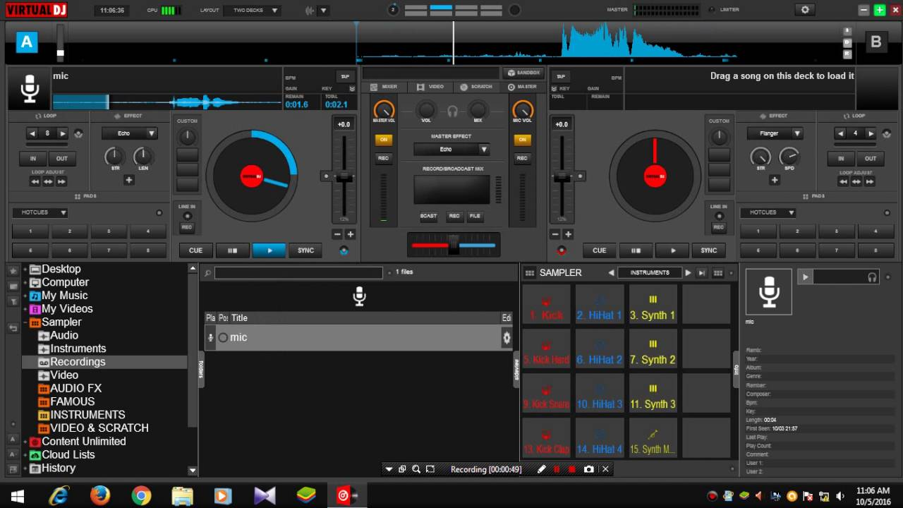 How To record a Sample using Mic in Virtual DJ 8