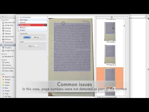 Post Production Editing for Digitizing Books