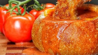 Grilled Cheese And Tomato Soup Bread Bowl