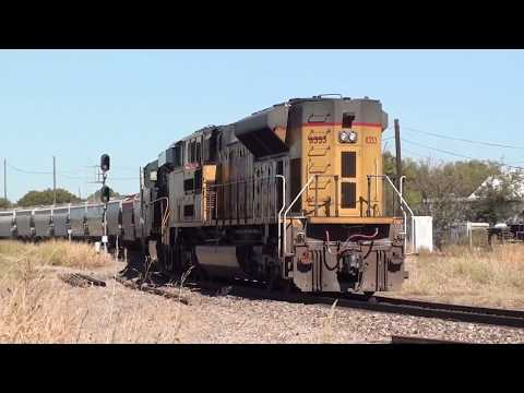 Railfanning Fort Worth Texas BNSF UP FWWR Texas 10/18/17