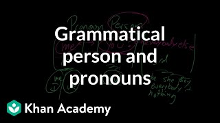 Grammatical person and pronouns | The parts of speech | Grammar | Khan Academy