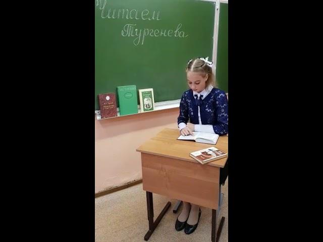 Изображение предпросмотра прочтения – АнгелинаХоджаева читает произведение «Что я буду думать» И.С.Тургенева