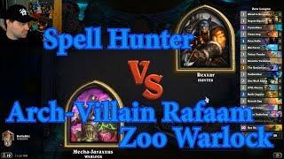 Arch-Villain Rafaam Zoo Warlock vs Spell Hunter | Hearthstone