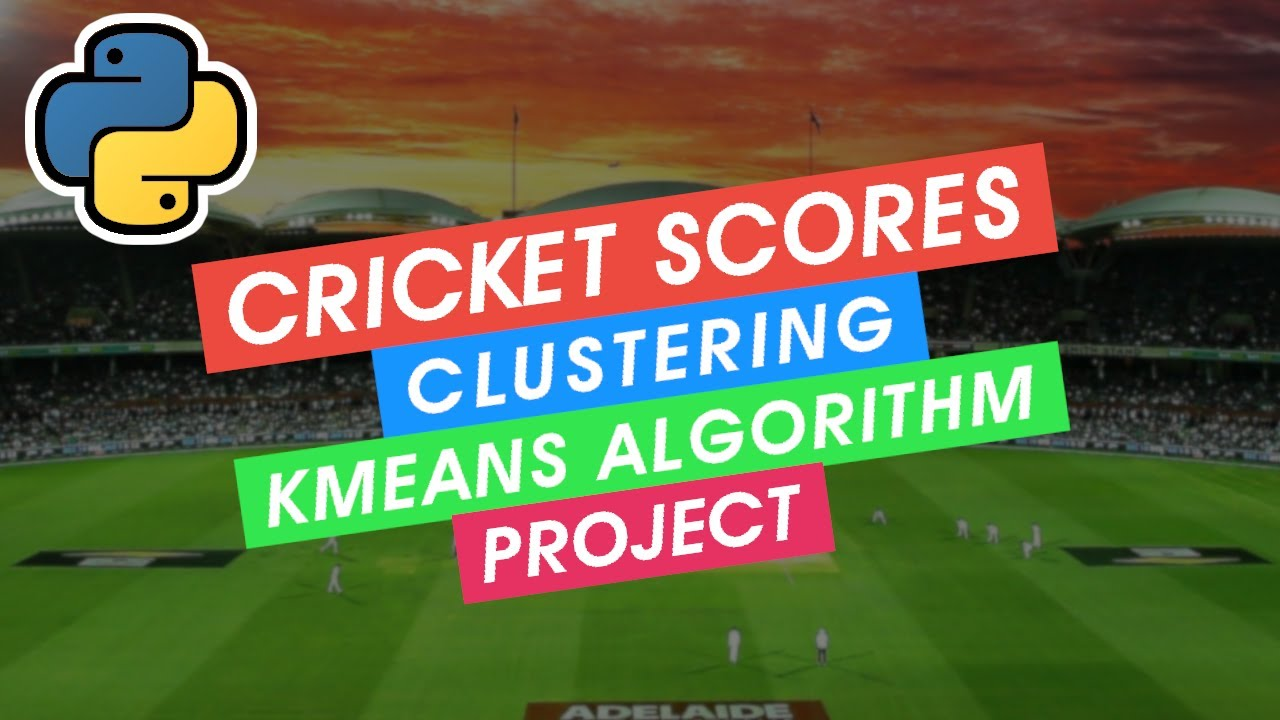 Machine learning Project : Cricket scores clustering ( K-means algorithm )