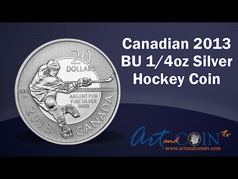 Canadian 2013 BU 1/4 oz Silver Hockey Coin at Art and Coin TV