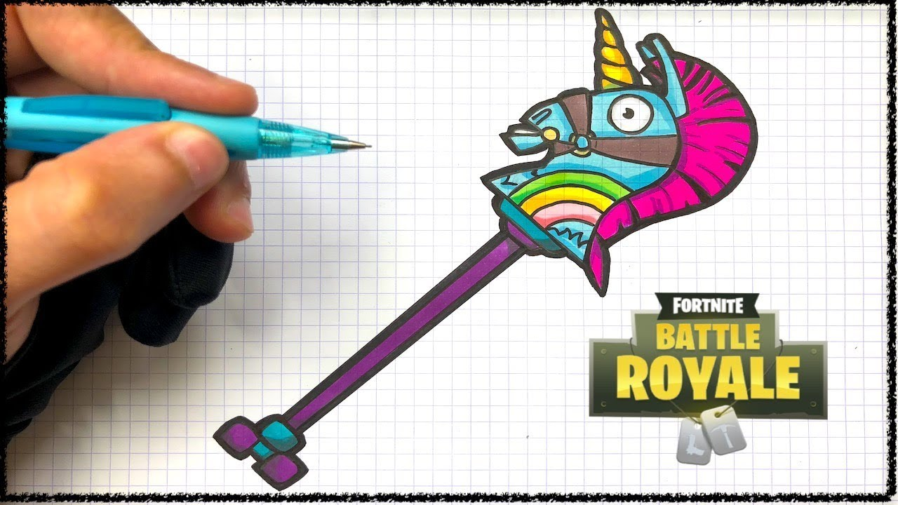 Tuto Dessin Pioche Licorne Fortnite Youtube