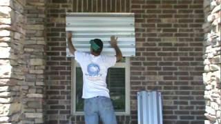 Windstorm Window Panels of Texas Installation Demonstration