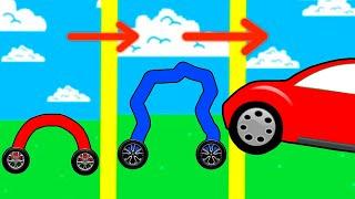 DESENHEI CARROS SUPER RÁPIDOS PRA CORRIDAS BIZARRAS → Draw Car 3D 📱🎮 Video
