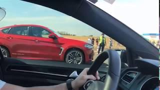 BMW X6M 4.4 Biturbo vs Golf GTI MK7 Stage 3 +300km/h