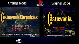 Castlevania Chronicles (PlayStation) Original & Arrange Intro