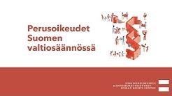 Perusoikeudet Suomen valtiosäännössä suomi