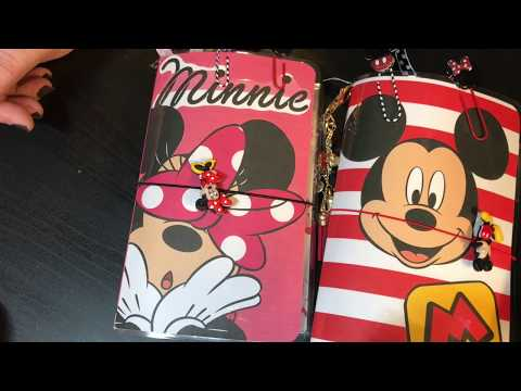 Mickey And Minnie Travelers Notebooks