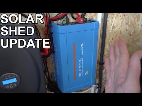 SOLAR SHED UPDATE & VICTRON PHOENIX 12 | 800 INVERTER