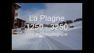 Vidéo Station de ski La Plagne Paradiski