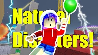 ROBLOX LET'S PLAY SURVIVE THE NATURAL DISASTERS GAMEPLAY | RADIOJH GAMES