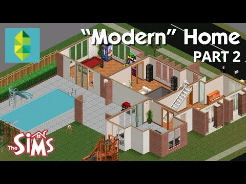 Lets Build a Modern Home in The Sims 1 -  Part 2
