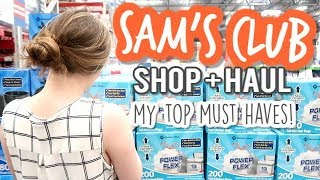 SAMS CLUB SHOP WITH ME + HAUL | MY TOP SAMS CLUB MUST HAVES