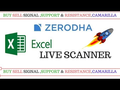 Zerodha Excel Live Scanner :-Buy Sell Signal ,Support