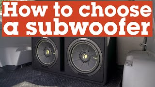 How to choose the right subwoofer for your car or truck | Crutchfield