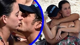 Katy Perry And Orlando Bloom Steamy Beach PDA