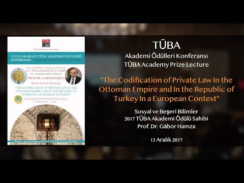 """The Codification of Private Law in the  Ottoman Empire and in the Republic of  Turkey .."""