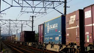 2019/05/11 JR貨物 午後5時台 貨物列車3本 5074レと普電離合 1052レと2079レ離合場面