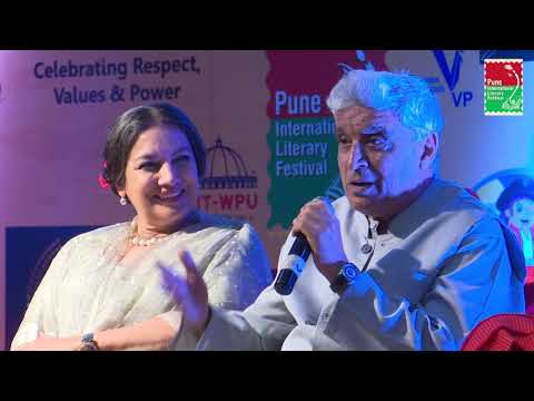 Javed Akhtar and Shabana Azmi in PILF2017