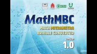 Math Mitranetra Braille Converter (MathMBC)