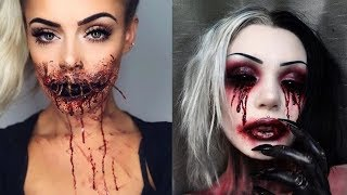 Scary/Creepy Halloween ideas make up tutorial #4