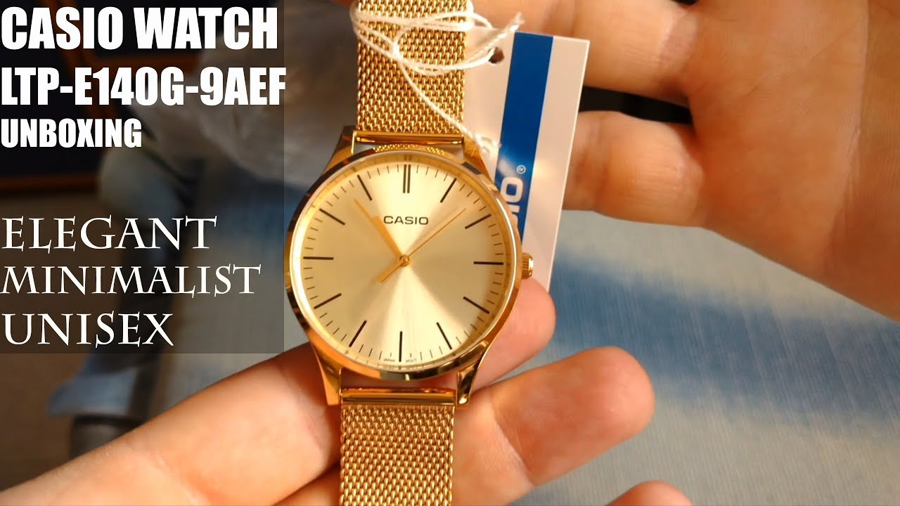 40fa41ccecd1c Casio Collection LTP-E140G-9AEF - Gold Watch | Unboxing and first look