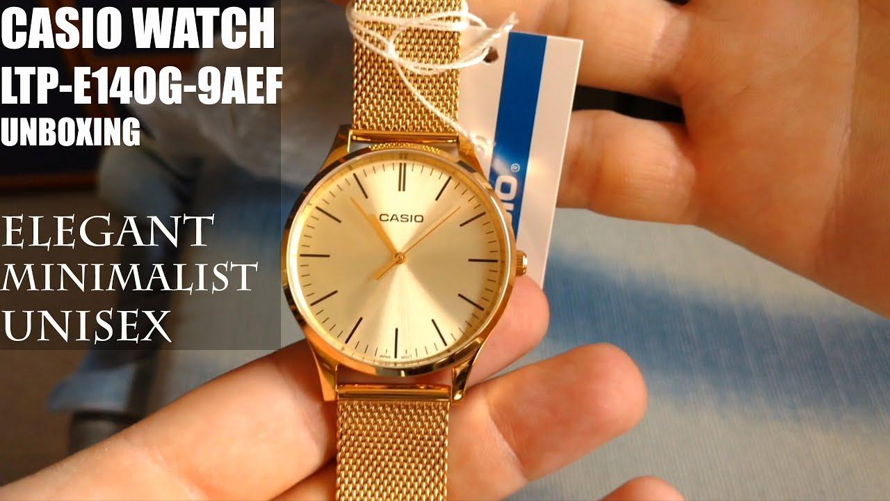 fe4e8b2ed522 Casio Collection LTP-E140G-9AEF - Gold Watch