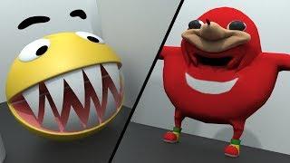 Pacman vs Uganda Knuckles vs Mario und Sonic