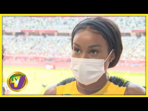 Jamaica Olympics Team 4x100 relay Heats Interview