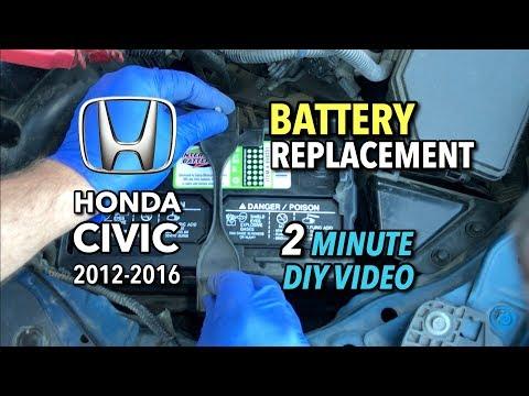 Honda Civic Battery Replacement – 2012-2016 – 2 Minute DIY Video