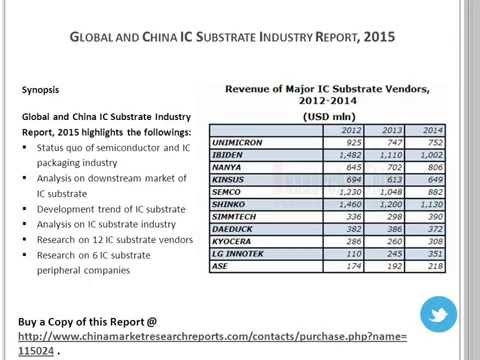 IC Substrate Industry Analysis 2015 For Global and China