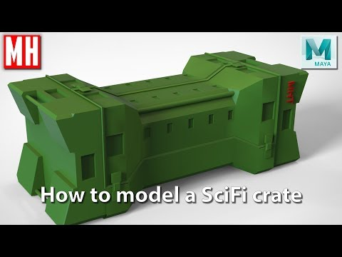 Maya 2018 tutorial : How to model a SCI FI case - YouTube