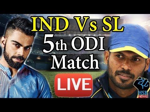 Live Cricket Score : IND VS SL 5th ODI, Sri Lanka Lose 3rd Wicket